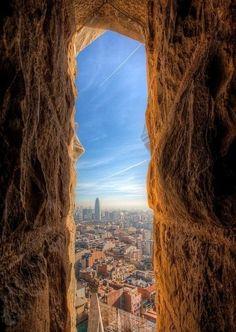 The view from Sagrada Familia, Barcelona, Spain