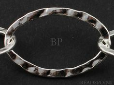 Sterling Silver Large Hammered Oval Cable Chain Big by Beadspoint, $19.99