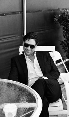 Jon Hamm on the set of Mad Men