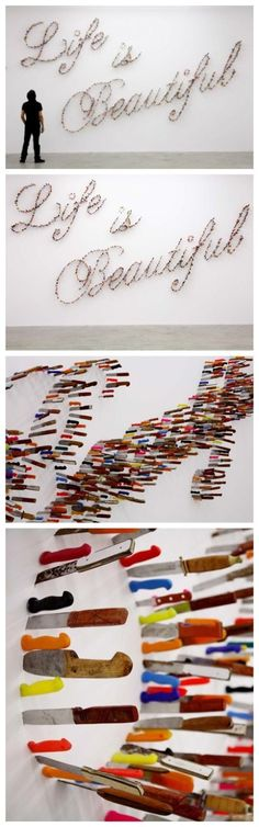 Knives also can decorate wall? Someone did it! #crazydesign