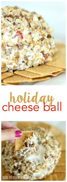 This cheese ball is perfect for your next holiday party! | SixSistersStuff.com