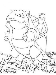 Desenhos para pintar Pokemon 86