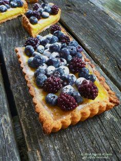 Yogurt Blueberry Tart