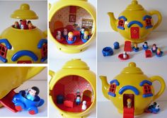 Big Yellow Teapot - inside. I have a whole other album dedicated to this toy