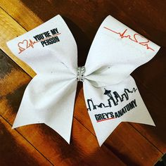 You're my person cheer bow by Bellabows76 on Etsy