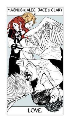 Tarot 06 * The Lovers * VI Magnus & Alec Jace & Clary* Love. By Cassandra Jean