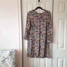 Abstract print mini mod aline shift dress Abstract print mini mod aline shift dress size 12 H&M Dresses