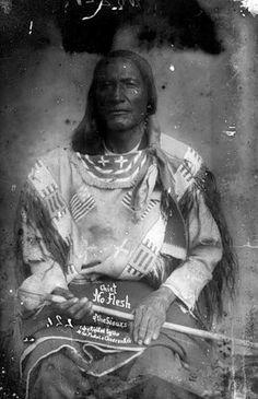 Sioux Indian Chief No Flesh Ca1890 Native American LAKOTA