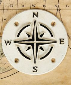 Our Vintage Style Compass Sign helps you stay on course and navigate life with coastal farmhouse style. Inspired by vintage enamel signs, this sturdy cast iron sign is white with a raised black lettering. Farmhouse Style Decorating, Farmhouse Decor, Vintage Farmhouse, Cast Iron, It Cast, Ocean Home Decor, Coastal Decor, Bliss Home And Design, Nautical Looks