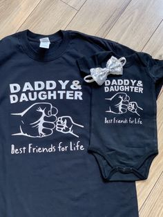 Father Daughter Shirts, Fathers Day Shirts, Daddy Daughter, Dad To Be Shirts, Family Shirts, Shirts For Girls, Mother Daughters, Daddy To Be, Mother Son