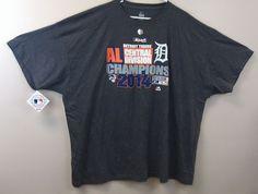 Just $22.99 !! Detroit Tigers AL Div Champs 2014 Big & Tall T-Shirts NEW/NWT Majestic Gray MLB #Majestic #DetroitTigers