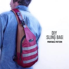 Most current Absolutely Free Sling Bag DIY + Printable Pattern Thoughts Diy Fashion, Fashion Bags, Fashion Design, Diy Backpack, Backpack Tutorial, Sling Backpack, Leather Bag Pattern, Diy Clothes Videos, Diy Videos