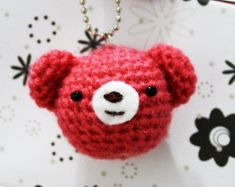 a cute bear for take care your key - Crochet Me freebie, thanks so for share xox