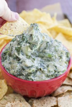 Classic spinach artichoke dip re-vamped to be dairy-free and vegan-friendly! It has no butter, cream cheese, heavy cream, or cheese! Its creaminess comes from the secret ingredient! You have to try it to believe it!