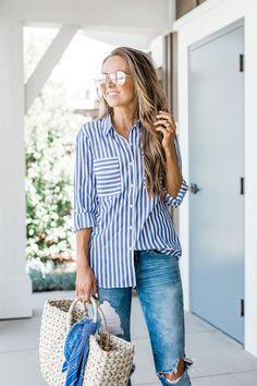 Merrick's Art | Striped Express Shirt #merricksart #stripes