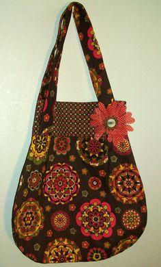 Adorable Fall Double Strap Shoulder Bag with inside pocket. $25.00, via Etsy.