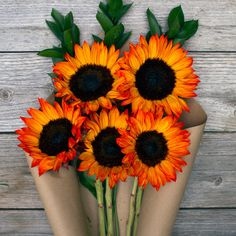 Nothing will brighten up your day like receiving a bouquet of sunflowers. Send them to a dear friend for a lovely surprise! Our flowers are cut-to-order and delivered straight from our farm to your recipient's doorstep, with Free Shipping!