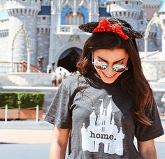 """Is there a """"magical"""" place that feels like home? Then our insanely soft Home at the Castle T shirt is for you. It's made in the USA and donates to charity."""