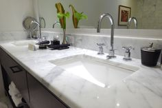 White Italian Marble Bathroom Vanity at Trump International Hotel Waikiki Beach Walk - CruiseReport