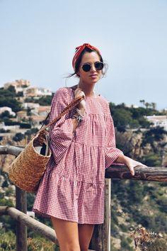 #look #playa #beach #summer #summerlook #lookfortime #vichy #javea #capazo #dress #vestido #ootd #outfit #sun