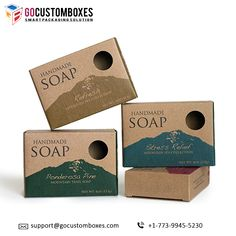Soap Boxes help to keep the dust and moisture away and Windows on these boxes also helps to increase the visibility of the product.   #packaging #boxes #soap #customized #design #safe #soapdesign #GoCustomBoxes #USA Kraft Packaging, Custom Packaging Boxes, Paper Packaging, Packaging Ideas, Packaging Design, Packaging Services, Packaging Company, Juice Packaging, Cardboard Packaging