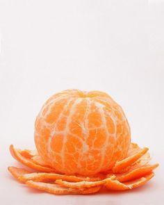 Orange - peeled Tangerine by mjgbirder Orange Fruit, Orange Peel, Orange Color, Orange Orange, Fruit And Veg, Fruits And Vegetables, Fresh Fruit, Fruit Photography, Orange Aesthetic