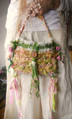 handknit bag rustic fairytale shoulder bag by beautifulplace, $62.00