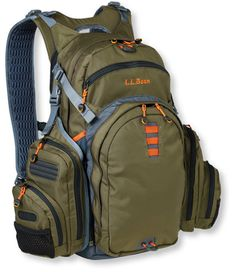 LL Bean's Kennebec Switch-Pack is perfect for long days on the water.  I use it for browns and steelhead in the late fall/winter and it is large enough for several big fly boxes, a down pullover, wading jacket, extra gloves, lunch and a couple of water bottles.