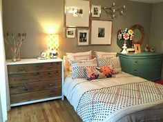 Master bedroom. Gallery wall