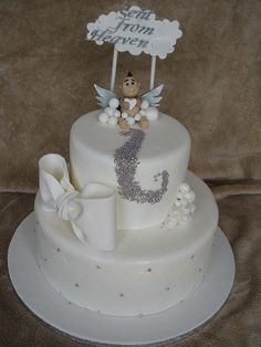 Sent From Heaven Baby Shower Cake | Flickr - Photo Sharing!