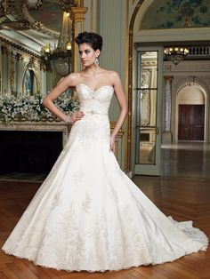 David Tutera Laney 212250: buy this dress for a fraction of the salon price on PreOwnedWeddingDresses.com