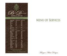 Spa Menu of Services  Digital Design  Printing by meaganadair, $25.00