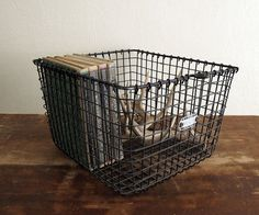 A good friend bought a tractor trailer filled with wire baskets and didn't know I loved them!  Silly guy!!