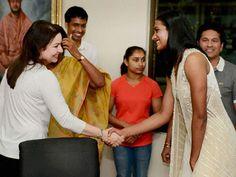 Sachin Tendulkar's wife Anjali greets Rio Olympics silver medalist shuttler P V…