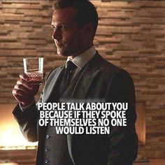 8 Quotes from Harvey Specter that helps you live like a boss! Boss Quotes, Attitude Quotes, Me Quotes, Motivational Quotes, Funny Quotes, Qoutes, People Quotes, Funny Humor, Wisdom Quotes