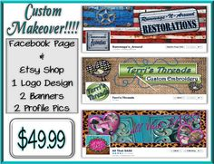 Etsy Shop Facebook Page Combo Package 2 by GraphicalSolutions, $49.99