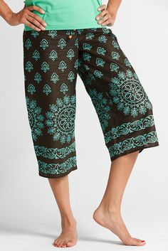 I can't wait to get these in the mail!!! Fall and Winter Pajamas for Women | Clothing on Sale | Pajamas On Sale Made by Women - PUNJAMMIES by International Princess Project - SHILU Capri XL