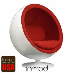 Made in America, speakers built-in, based on the original Eerio Aarnio design.  What's not to love?  I WILL find a place for one of these someday.