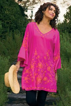 Maui Tunic - With a worldly flair, it looks great over a swimsuit or leggings | Soft Surroundings