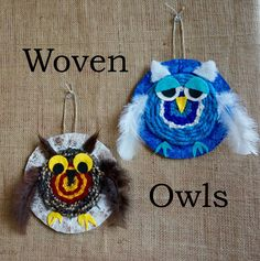 that artist woman: Woven Owls and Weavy Loops - this is awesome!