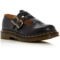 Dr. Martens 8065 Mary Jane Flats (2.584.050 VND) ❤ liked on Polyvore featuring shoes, flats, black, flat pumps, black shoes, mary jane flats, mary-jane shoes and chunky black shoes