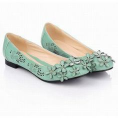 $20.06 Fashion and Sweet Style Openwork Flower Embellished Round Head Design Women's Flat Shoes