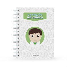 Cuaderno - Las notas del ingeniero químico, encuentra este producto en nuestra tienda online y personalízalo con un nombre. Notebook, Dietitian, Notebooks, Report Cards, Training, Store, Brother, The Notebook, Exercise Book