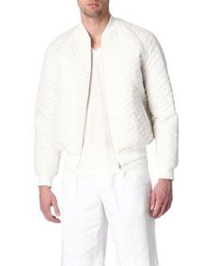 Jonathan Saunders | White Quilted Bomber Jacket for Men | Lyst