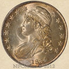 1834 Capped Bust Half MS64 PCGS O-109 R.1, obverse. Very nice coin! #Coins #GoldCoins #Silver #Coins #USCoins #TheHappyCoin