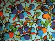 Vibrant Garden of Eden Print Pure Cotton Fabric from Studio