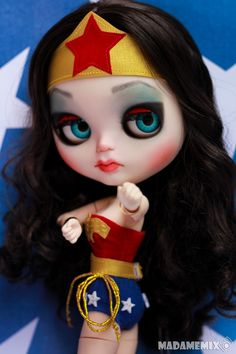 Blythie can be all things. Pretty Dolls, Beautiful Dolls, Amy Winehouse, Living Dead Dolls, Barbie, Wonder Woman, Little Doll, Character Costumes, Designer Toys