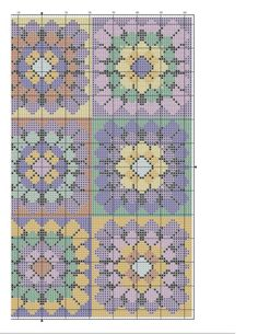 Cross Stitch Crazy 189 - Crochet Away (Cross Stitch Granny Squares...would look amazing as a quilt.) on my to-do list! 4/4