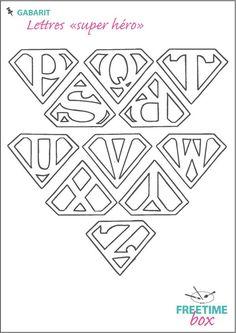 Tuto DIY - Pas à pas - Gabarit lettres super héro pour customisation de tee shirt en flock