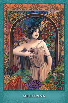 U.S. Games Systems, Inc. > Tarot & Inspiration > Mystic Sisters Oracle Deck Art Nouveau, Art Deco, Roman, Wine Poster, Wine Art, Goddess Art, Tarot Card Decks, Oracle Cards, Poster Prints
